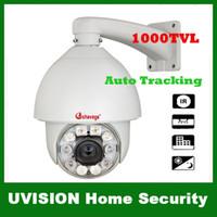 Wholesale Effio Ptz - Security Surveillance 1000TVL SONY EFFIO CCD 300x Outdoor CCTV intelligent PTZ IR Camera high speed Auto Tracking 120M IR Distance