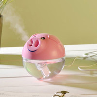 Wholesale air cleaner humidifier - 2015 Newest Lucky Pig MINI USB Humidifier Pink White Air Purifier Aroma Diffuser for Home Room Car Cute Home Appliances Air Cleaning SH308