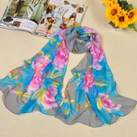 Wholesale Chinese Wear For Women - 2015 New Style Chinese Scarves For Women Big Peony Flower Pattern Scarf Graceful And Luxury Bear wear