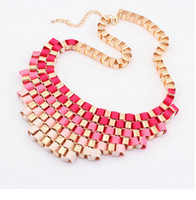 Wholesale Exaggerated Chunky Bib Necklace - vintage exaggerated chunky bib necklace for women jewerly fashion statement necklace collar choker jewelry