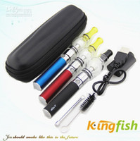 Wholesale Kingfish E Cig - Kingfish Electronic Cigarette Ego E Cigarette Ego Battery and glass globle wax Atomizer Newest mini zipper kit e cig gry herb ego kit HOT!!