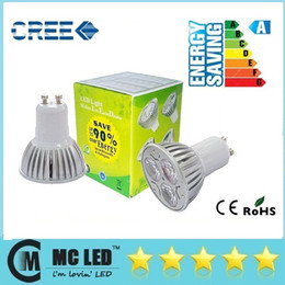 Wholesale Mr16 Down Lights - CREE GU10 LED 9W Spot Bulbs Light E27 E26 E14 GU5.3 MR16 Dimmable 110-240V 12V Led Down Lights Warm Natural Cool White 60 120 Angle CE ROHS