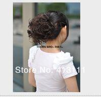 Wholesale Clip Hairpiece Wig - Clip in Pretty Girls and women's Fashion Big hair bun Wig Curly hair Chignon luxurious headwear Fashion Ponytail Scrunchie Women Hairpieces