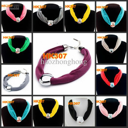 Wholesale Orange Jewelry Scarf - Pendant Sale Real Pink Red Khaki Peach Orange Necklaces Scarf Beads Jewelry Fashion Women's Neck Charm 2015 Dhl ems free Shipping Hk307