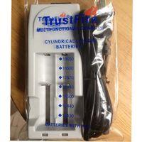 Wholesale Trustfire 3v - Free DHL,30PCS 3V-3.6V 3.7V TrustFire 001 TR001 Lithium Battery Charger for 14500 16340 18500 18650 Battery EU US Plug(White Color)