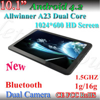 Le moins cher 10.1 inch Tablet PC Allwinner A23 1.5GHZ Bluetooth 1G / 16G Android 4.2 Dual-Core 1024 * 600 écran capacitif double appareil photo tablette