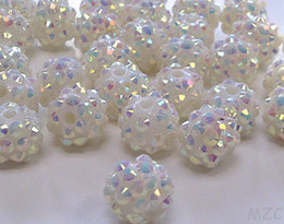 Wholesale Mixed Rhinestone Spacers - Cheap! free shipping 10 mm white Color Epoxy Rhinestone,Resin Crystal Spacers Beads Jewelry Finding bead hot Wholesale! Stock!Mixed Lot!