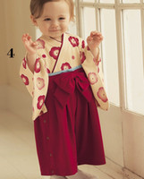 Wholesale 18 Month Winter Dress - Floral Baby Girls Rompers Japan Korea Kimono Clothes Baby Dresses Bodysuits 100% COTTON TOP QUALITY