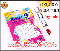 Wholesale Gpp Sim 4s - iOS 7.0.6 RSIM 9 R-SIM9 r sim 9 sim 9 pro Unlock Sim card for upgrade iOS7.0.6 7.0.4 7.0.3 7.0.2 gpp ios 7.1 AUTO Unlock iPhone 4 4S 5 5C 5S
