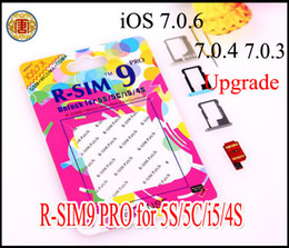 Wholesale Gpp Sim 4s - Original R-SIM 9 r sim 9 RSIM 9 pro GPP GEVEY card Unlock Sim for upgrade iOS7.0.6 7.0.4 7.0.3 7.0.2 Unlock iPhone 4 4S 5 5C 5S gpp ios 7.