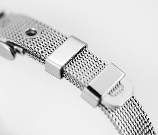 / 10MM/ 8MM Braccialetti Catene d'Acciaio Inossidabile con l'Uso di Gomma Stopper DIY con Lettere di Rhinestone