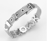 200Pcs Lot 10MM   8MM Stainless Steel Chain Bracelet With Ru...