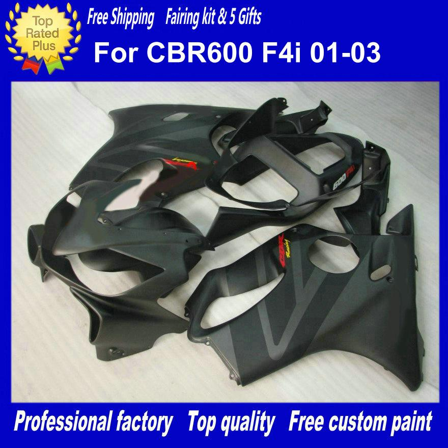 Trabajo mate del cuerpo negro para los carenados de Honda CBR600F4I 01-03 CBR600 F4I 01 02 03 CBR 600 2001 2002 2003