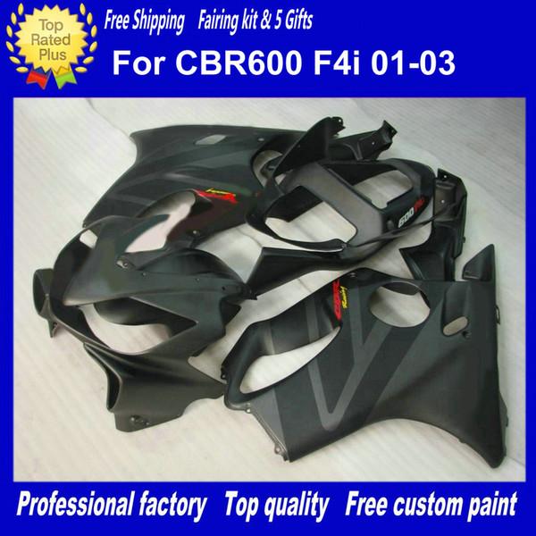 Matte black body work for HONDA fairings CBR600F4i 01-03 CBR600 F4i 01 02 03 CBR 600 2001 2002 2003