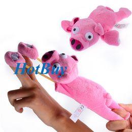 Wholesale Screams Pigs - Flying Pig Screaming Flying Slingshot Plush New Toys #2830