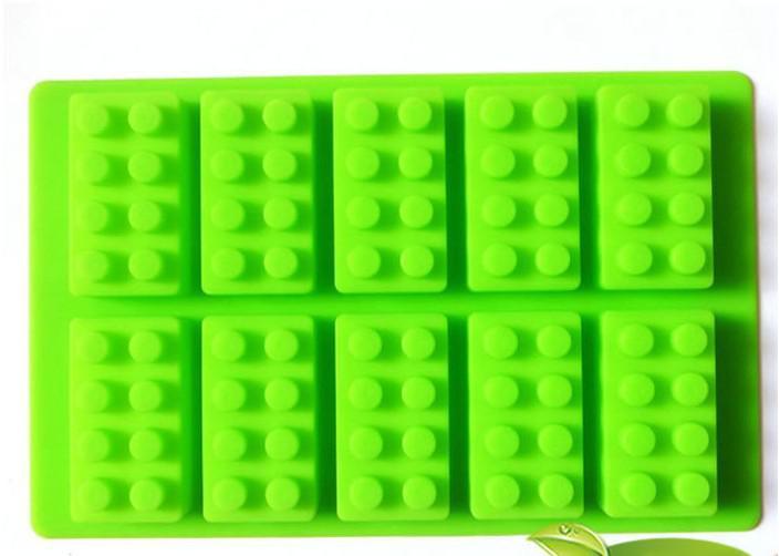 Partihandel LFGB Block Brick Ice Mold Silicone Ice Cube Fack Gratis frakt via FedEx / DHL, parti