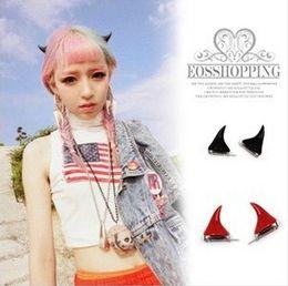 Wholesale Devil Horns Hairpin - Free Shipping,Fashion Punk Harajuku Style Cute Devil Horns Hair Clip Hairpin,Hair Accessary