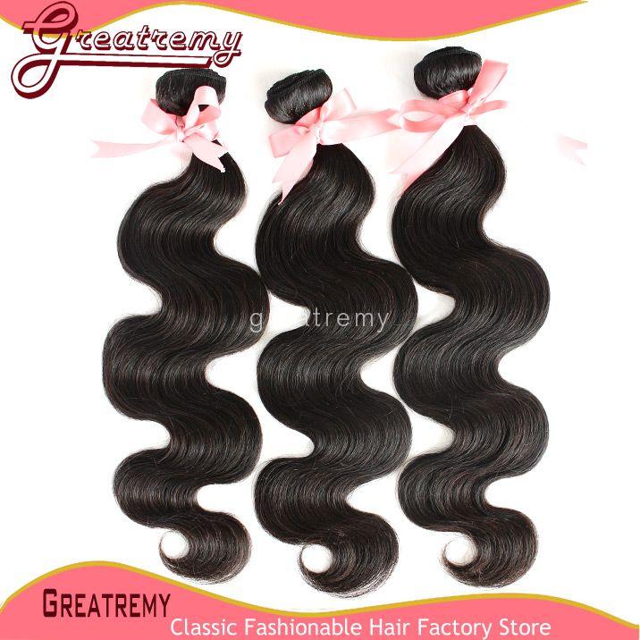 Doppel-einschlagkörper-Wellen-brasilianisches Haar-einschlag Extensions Rohboden menschliche Remy Haar-natürliche Farbe einfärbbar Greatremy Drop Shipping