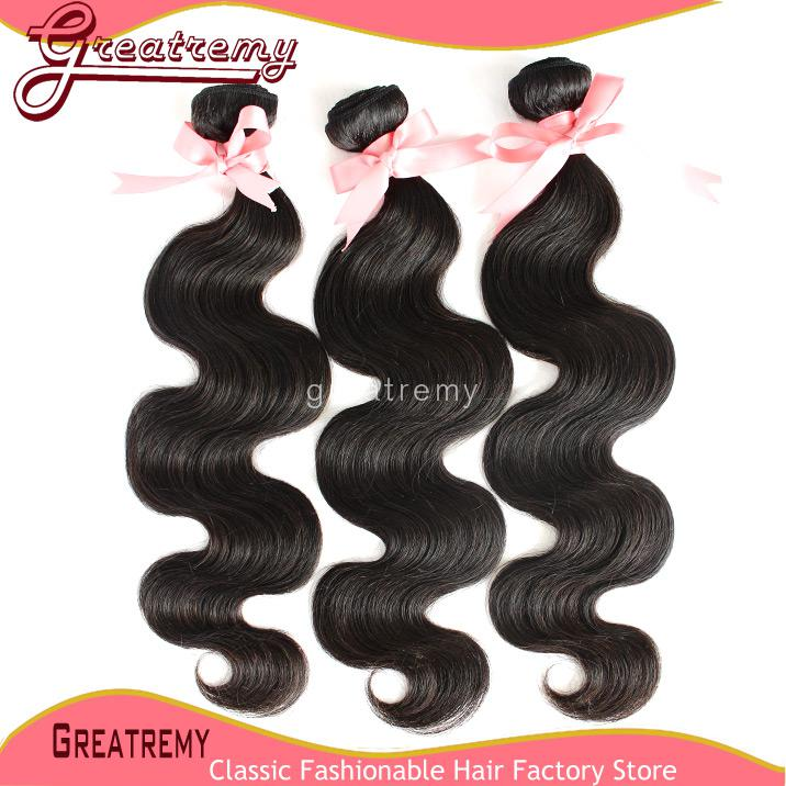 Double Weft Body Wave Brazilian Hair Weft Extensions Unprocessed Human Remy Hair Natural Color Dyeable Greatremy Drop Shipping