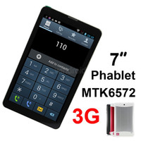 Wholesale new mtk phones for sale - Group buy New arrival inch HD Screen G Phone Call Tablet PC MTK6572 Dual Core GHz android MID bluetooth Wifi Dual Camera phablet DHL