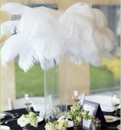$enCountryForm.capitalKeyWord NZ - New 25-30 CM Natural White Ostrich Feathers Plume Centerpiece for Wedding Party Table Decoration Free Shipping