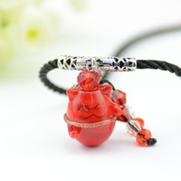 Adorável Happy Pig vidro Essential Oil Pendant MINI Aroma Perfume Bottle Colar Acessórios 5pcs / lot DC245