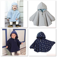 Wholesale Reversible Baby Capes - Baby Boy's Hoodies Coats Reversible Smocks Combi Cape Mantle Outwear Fleece Coat Hooded Jackets HOT SALE