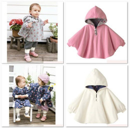 Wholesale Baby Winter Poncho - Free Shipping Combi Baby Coats Girl's Smocks Ourerwear Fleece cloak Jumpers mantle Children's Poncho 1pcs lot Cape
