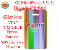 Wholesale Gpp Unlocking Card - GPP 5C 5S Turbo Nano Sim Nano R SIM RSIM For upgrade iOS7.0.6 7.0.4 IOS 7.0.4 CDMA GSM AT&T T-MOBILE Sprint Verizon NETELL all carrier