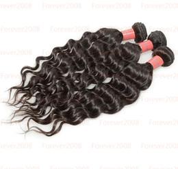 "Wholesale Malaysian Deep Wave Same - 4A DHL Free Shipping Malaysian Deep Wave Hair Natural Black Color Hair Weft 2 Pcs same size 8""-32"" Quality"