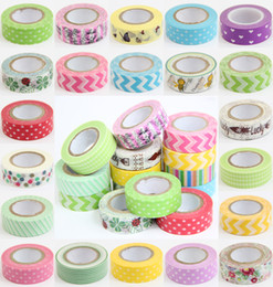 Wholesale Paper Washi Tapes - Details about Lot Of 10 PCS 1.5cm*10M DIY paper Sticky Adhesive Sticker Decorative Washi Tape