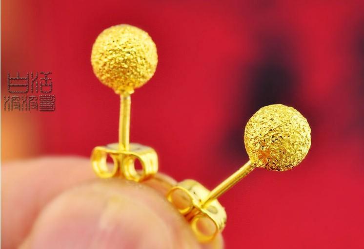 grossist fin 24k guldpläterad grossist sandpärla överföring stud örhängen, womendangel stud örhängen örhängen brud örhängen kvinnor fri frakt