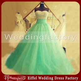 $enCountryForm.capitalKeyWord Australia - Silver Aqua Quinceanera Dresses Ball Gown Sweetheart Sleeveless Sequins Tulle Floor Length Lace up Back Prom Gown