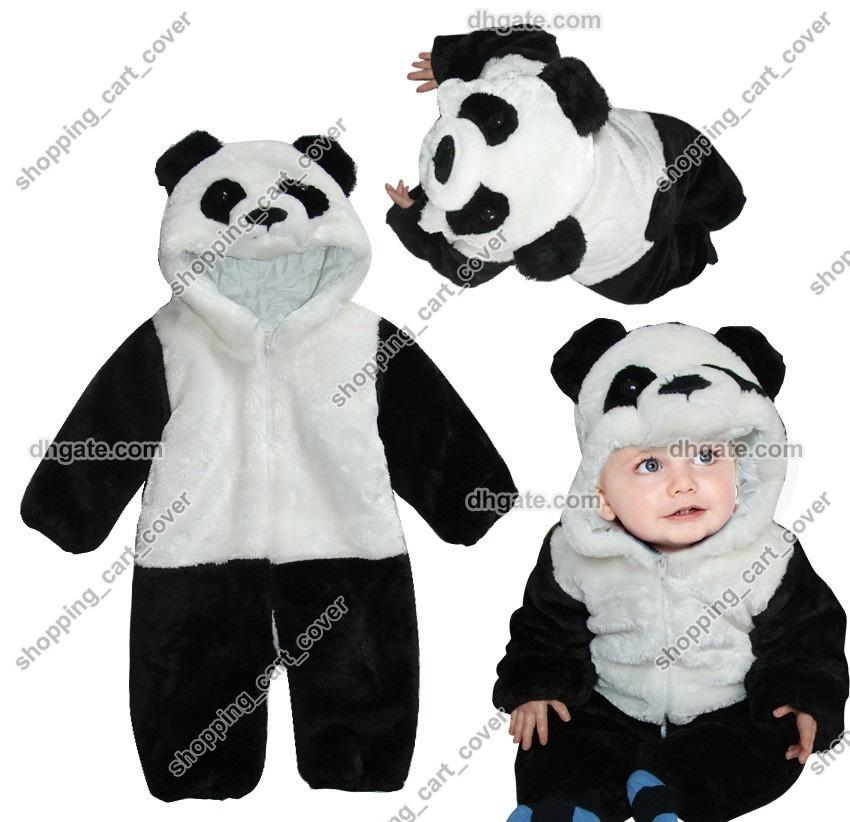 d192ffc8abc 2019 Panda Animal Baby Infant Kid Child Toddler Grow Long Sleeves Onesie  Bodysuit Romper Jumpsuit Coverall Outfit Cloth One Piece Jacket Hooded From  ...