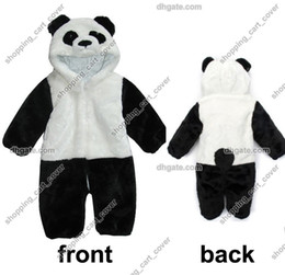 9d40aa101a80 Panda Animal Baby Infant Kid Child Toddler Grow Long Sleeves Onesie  Bodysuit Romper Jumpsuit Coverall Outfit Cloth One-Piece Hoodie Costume