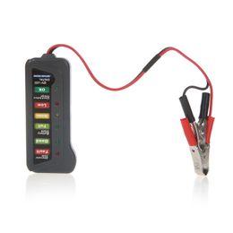 Wholesale Saab Led Light - Tirol 12V LED Digital Car Battery Tester Alternator Tester 6LED Lights Display Indicates Condition Diagnostic Tool K1027