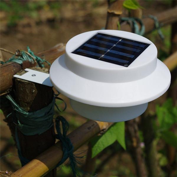 best selling Outdoor Solar Powered 3 LED Light Fence Roof Gutter Garden Yard Wall Lamp Garden Street Lighting Energy-saving Lights LED Solar Powered