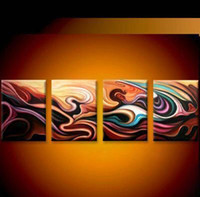 Wholesale Landscape Thick Paintings - Modern   Abstract Oil Painting hand-painted oil wall art oil painting on canvas XD4-056