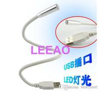 Wholesale White Mini Laptop Price - Lowest Price Flexible LED Bright White USB snake mini light notebook laptop PC Night Reading lamp 800pcs lot