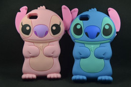 Wholesale 3d Case For Galaxy Ace - 3D Stitch Silicon Case Cover for iphone 4 5 5s GALAXY Y S5360 Ace S5830 1pcs lot
