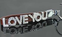 """5.5 """"amants de Cuples Keychain DIY avec la glissière de lettres de strass de glissière charmes 8MM / 10MM ? partir de fabricateur"""