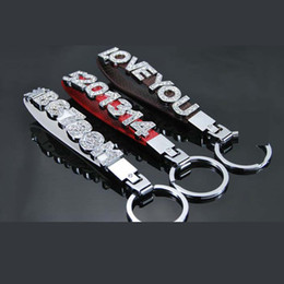 """$enCountryForm.capitalKeyWord Canada - 5.5"""" Car Licence Numbers Keychain DIY With Slide Rhinestone Letters Numbers Charms 8MM   10MM"""