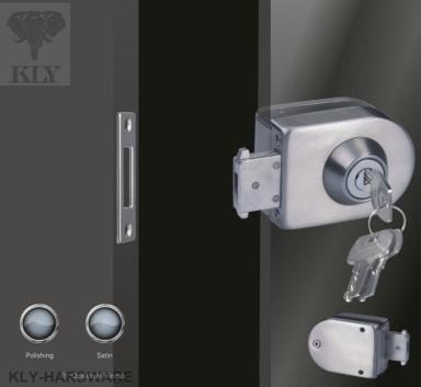 Single Glass Door Lock With Keys Swing Glass Door Latch Door Lock Gate Lock