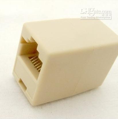 Venta al por mayor - RJ45 8 PIN hembra a RJ45 Cable de red de conectores de conectores de adaptador de 8 clavijas # 07F