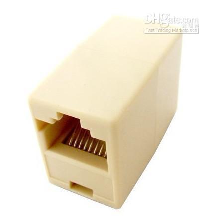 Partihandel - RJ45 8 Pin Kvinna till RJ45 8-polig Kvinna Adapter Connector Network Cable # 07F