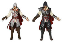 Barato Figura De Ação Branca E Preta-2pcs SET NECA Toy Assassin's Creed II 2 Ezio White Black 7