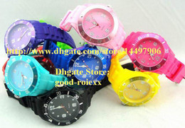 Wholesale Dive Lady Watch - Luxury Fashion 13 Colors Unisex Mens Colorful Candy Jelly Silicone Men Sports Watch Ladies Cute Quartz Women's Wristwatch Men's Dive Watches