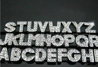 Wholesale Pet Clearance - Clearance Sale 260Pcs Lot DIY Side Letters With Rhinestone Charms For 10mm Pet Dog Collars Best Selling In Stock