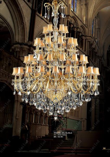 nimi198 10/15/35/47/65 Heads European-style Luxury Villa K9 Crystal Chandelier Lamp Pendant Candle Light Droplight Living Room Hotel Lobby