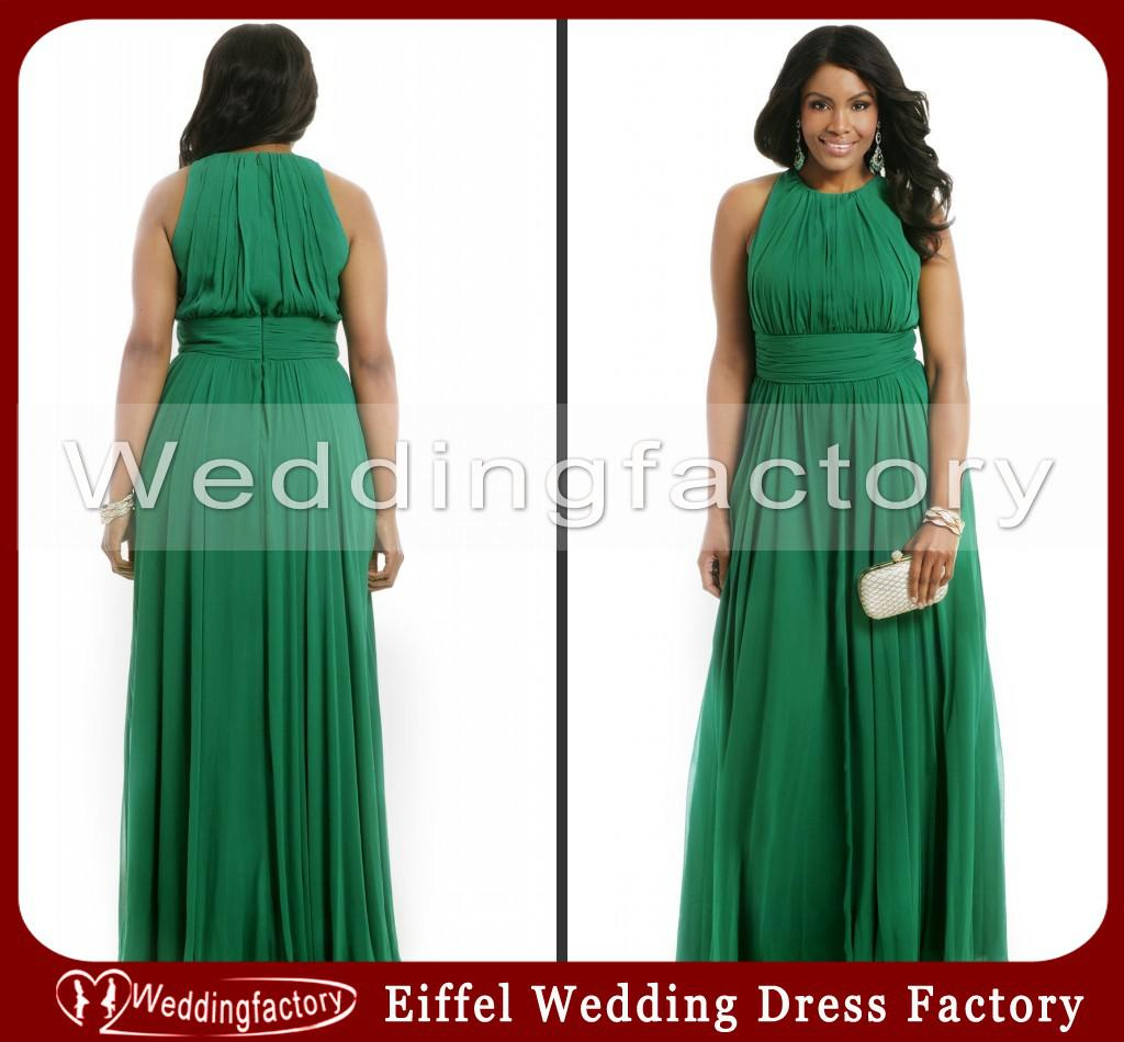 Hot Sale High Quality Emerald Green Plus Size Formal Dresses A Line